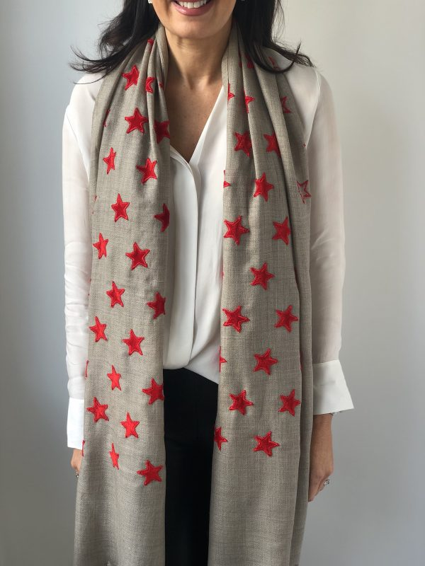 Little Red Kiss | Fashionable and Affordable Accessories | Scarf and red stars