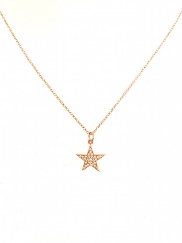 Little Red Kiss | Fashionable and Affordable Accessories | Sparkly Star Pendant, Silver, Gold and Rose Gold