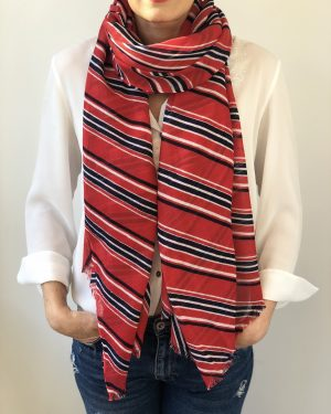Little Red Kiss | Fashionable and Affordable Scarves | Silk and Wool Blend Harper Scarf