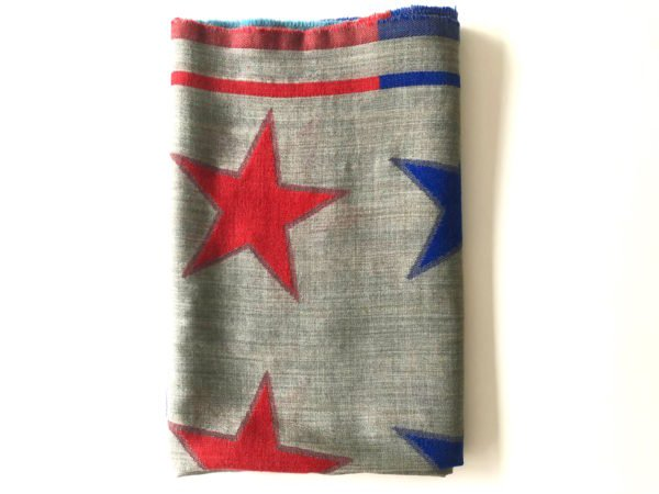 Little Red Kiss | Fashionable and Affordable Scarves | Wool Blend Bright Star Scarf