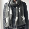Little Red Kiss | Fashionable and Affordable Scarves | Fraas Star Scarf, Wool Printed, Greeny Grey