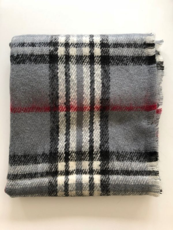 Little Red Kiss | Fashionable and Affordable Scarves | Fraas Super Soft Grey Checked Scarf
