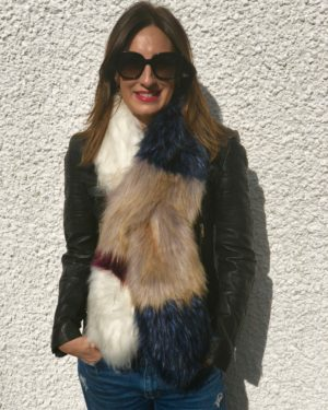 Little Red Kiss | Fashionable and Affordable Scarves | Gigi Muticoloured Faux Fur Scarf