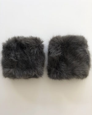 Little Red Kiss | Fashionable and Affordable Accessories | Monore Grey Faux Fur Cuffs