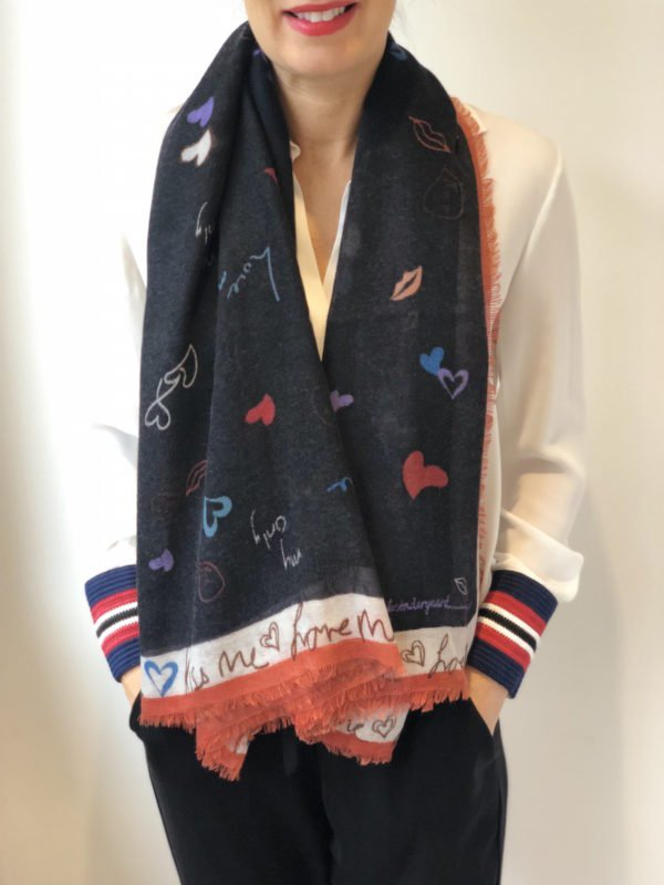 Little Red Kiss | Fashionable and Affordable Scarves | Becksondergaard My Valentine Scarf