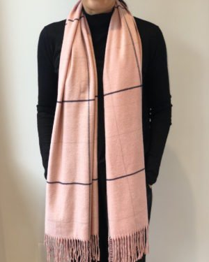 Little Red Kiss | Fashionable and Affordable Scarves | Tori Soft Pink Checked Scarf