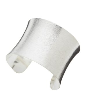 Little Red Kiss | Fashionable and Affordable Accessories | Heidi Silver Plated Brushed Cuff