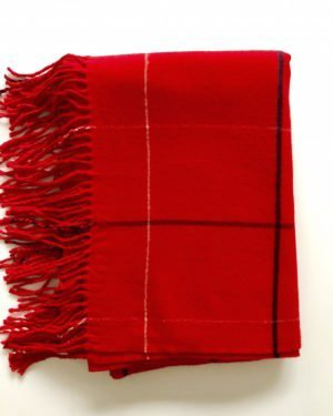 Little Red Kiss | Fashionable and Affordable Scarves | Tori Red Checked Scarf with Tassles