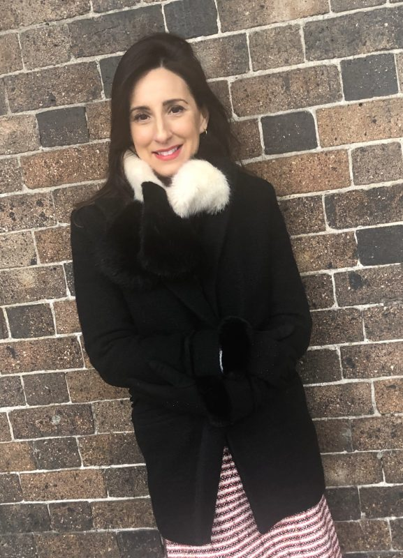 Little Red Kiss | Fashionable and Affordable Accessories | Gemma in black coat