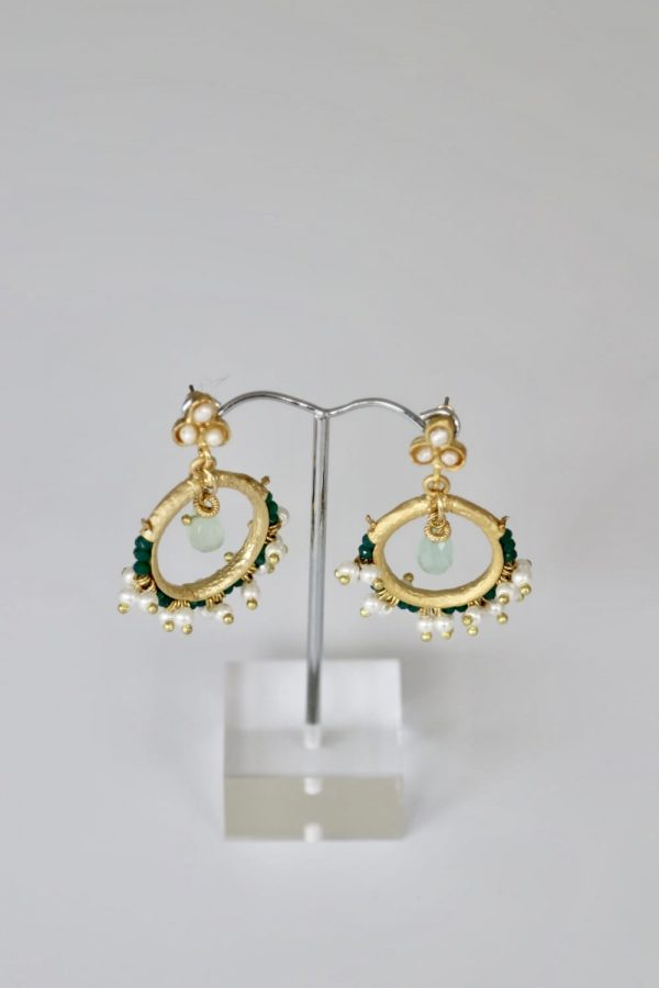 Little Red Kiss | Fashionable and Affordable Accessories | Green Pearl Positano Earrings