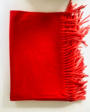 Little Red Kiss | Fashionable and Affordable Accessories | Chelsea Coral Red Soft Scarf