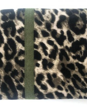 Little Red Kiss | Fashionable and Affordable Accessories | Olive Green Leopard Print Scarf