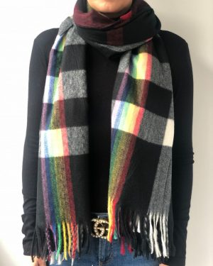 Little Red Kiss | Fashionable and Affordable Accessories | Rainbow Check Scarf