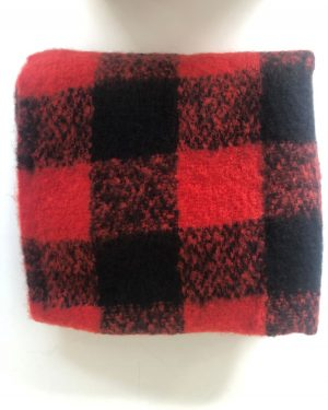 Little Red Kiss | Fashionable and Affordable Accessories | Red Black Chunky Scarf