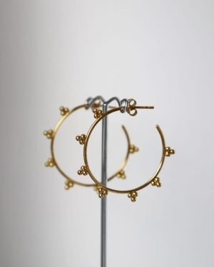 Little Red Kiss | Fashionable and Affordable Accessories | Capri Gold Mini Balls Hoop Earrings